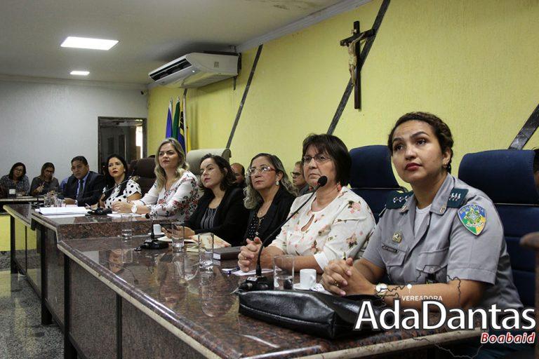 Vereadora Ada Dantas preside audiência pública sobre violência contra a mulher