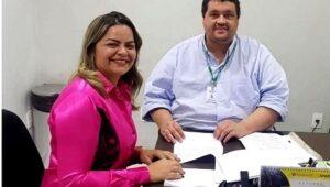 CRISTAL DA CALAMA: Emdur instala iluminação pública a pedido de vereadora Ada Dantas
