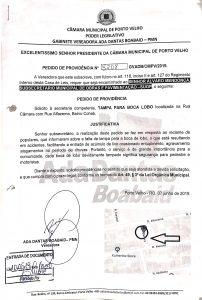 TAMPA DE BOCA DE LOBO – Rua Câmara com Rua Alfazema, Bairro Cohab