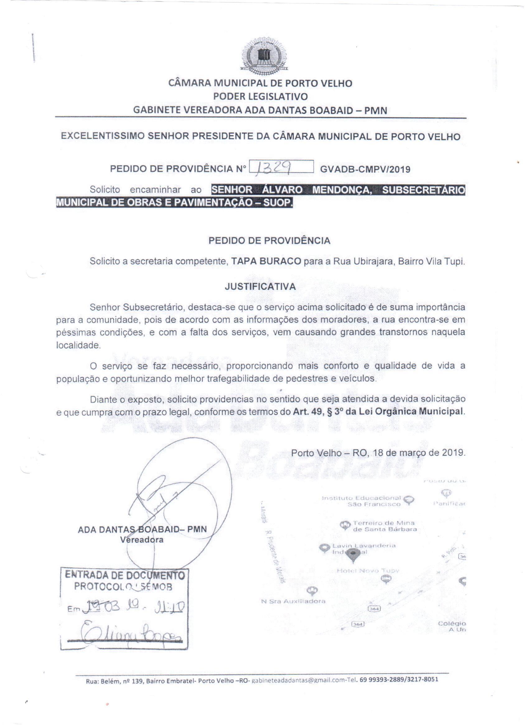 TAPA BURACOS – Tancredo Neves com Rua Paranaguá, Bairro Caladinho